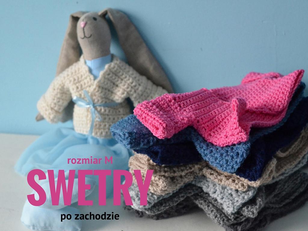 króliki ręcznie szyte, swetry dla lalek, ubranka dla lalek, po zachodzie, wrocław, maileg, tilda, zając, królik, polska marka,