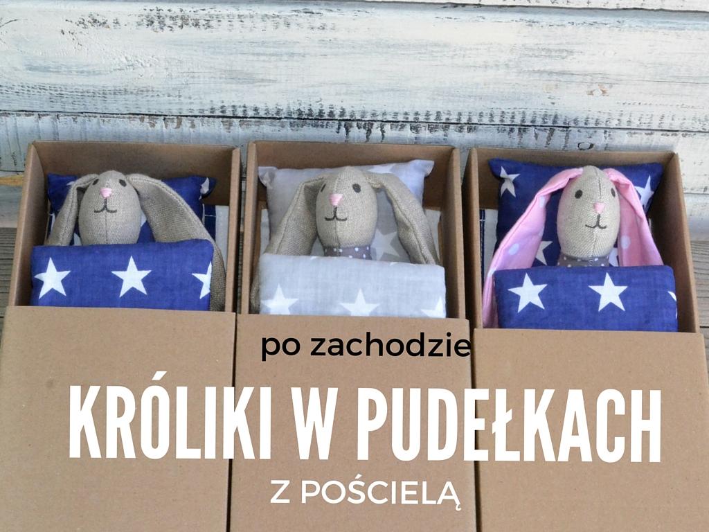 Ręcznie szyte przytulanki szmacianki marki PO ZACHODZIE tym razem w wersji pudełkowej z pościelą. Zestaw zawiera wybraną maskotkę (królika, myszkę, kotka w wersji mini - około 20 cm) kartonowe łóżeczko/pudełko dla lalki, pościel dla lalek (kołdra + prześcieradło + poduszka) Skandynawski design dla dzieci www.pozachodzie.com SKLEP INTERNETOWY http://sklep.blueandwhite.pl/ Kontakt 601727133 pozachodzie@pozachodzie.com Nasz internetowy sklep z ręcznie robionymi zabawkami to nie tylko oferta dla mieszkańców Wrocławia Szyjemy dekoracje pokoju dziecięcego, przytulanki, maskotki, literki, girlandy, poduszki dekoracyjne i inne lalki smzaciane. Przytulanki po zachodzie to doskonały pomysł na prezent dla dziecka, na święta i na przeróżne okazje (dzień dziecka, urodziny, narodziny)