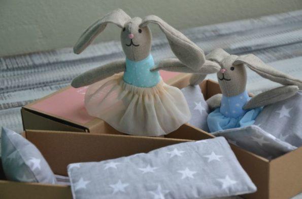 królik szyty lalka szmaciana dla przedszkolaka