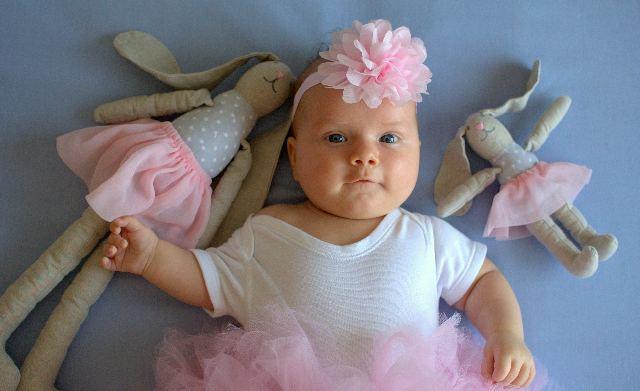 królik szyty lalka baletnica handmade