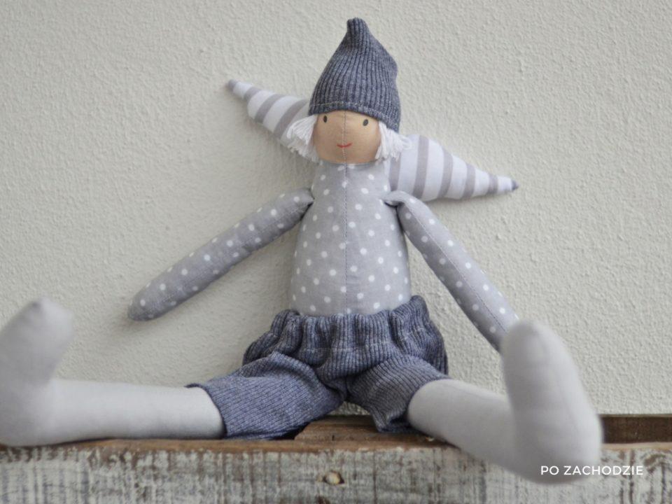 anioł to prezent szyty w stylu Tilda , doskonały na chrzest albo babyshower, idealny dla chłopca