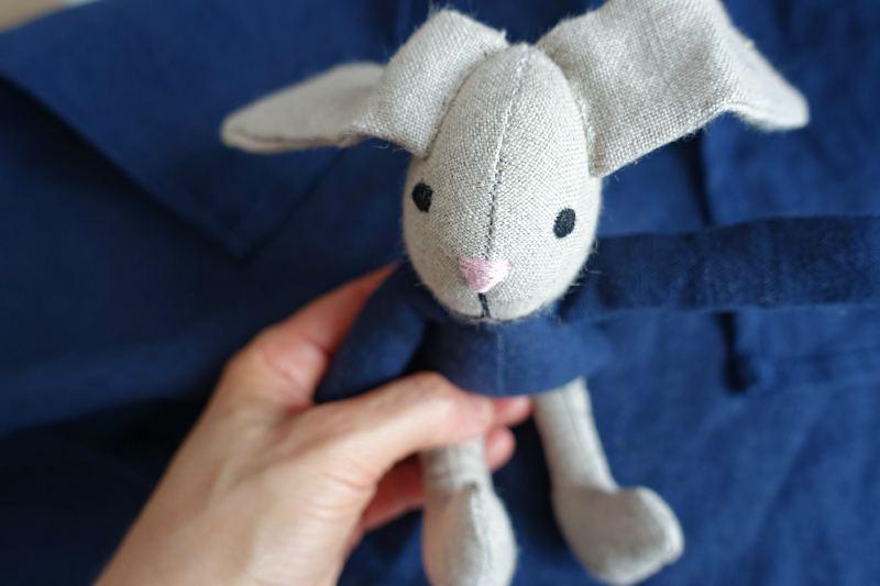 królik przytulanka z materiału prezent dla dziecka